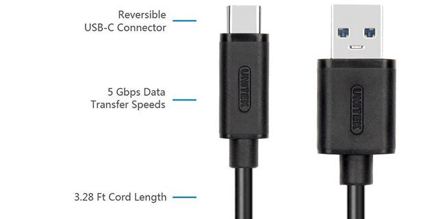 Cáp USB Type C to USB 3.0 1M Unitek Y-C474BK