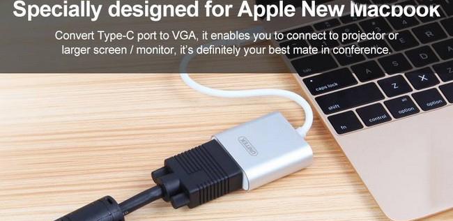 Cáp chuyển USB 3.1 Type C sang VGA Unitek Y-6308