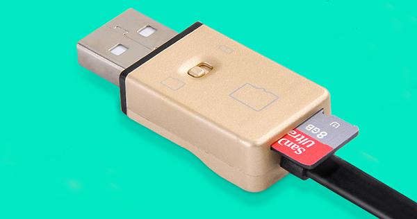 Dây sạc Micro đầu đọc thẻ nhớ Hoco UPM06