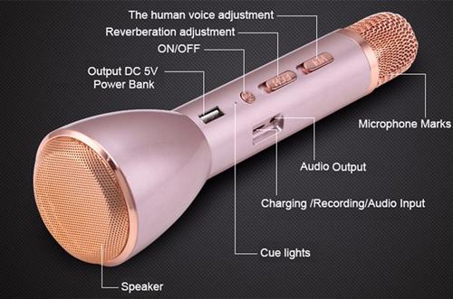 Micro bluetooth karaoke kèm loa Foxdigi K088