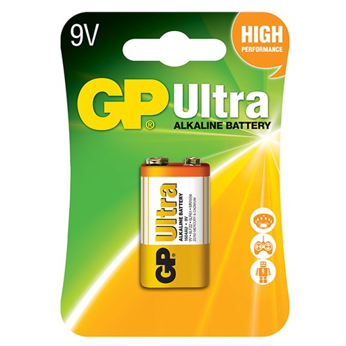 Pin 9V GP Ultra Alkaline 1604AU-U1