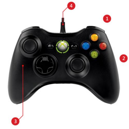 Tay cầm chơi game có dây Xbox 360