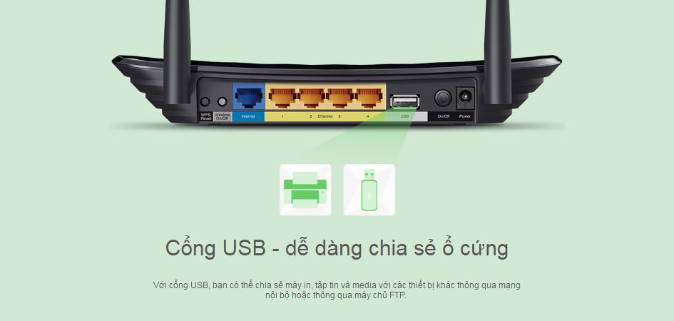 Bộ phát wifi Gigabit băng tần kép TP-link Archer C2