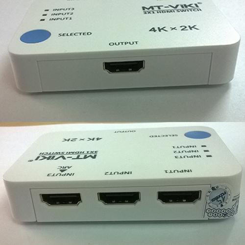 Bộ chuyển đổi HDMI 3 vào 1 ra MT-SW301SR KVM Switch