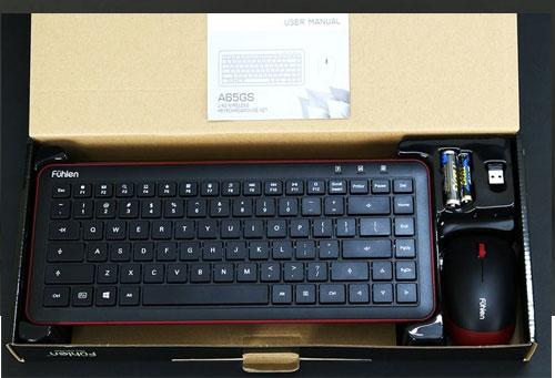Bộ bàn phím chuột không dây Fuhlen A65GS