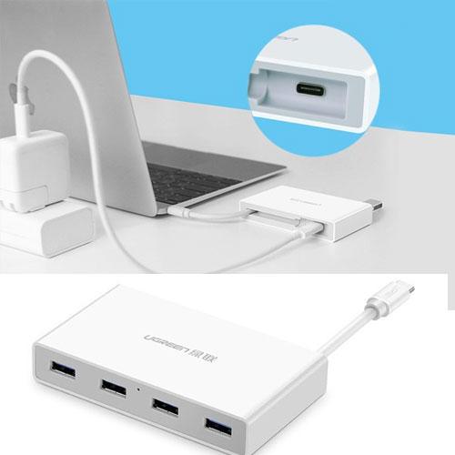 Bộ chia USB Type-C ra 4 cổng USB 3.0 Ugreen UG-30278
