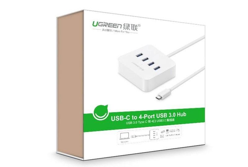 Bộ chia USB Type-C ra 4 cổng USB 3.0 Ugreen UG-30316