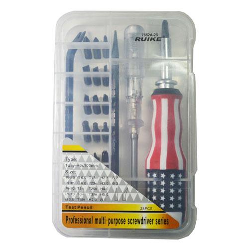 Bộ dung cụ đa năng tô vít, bút thử điện Ruike 7662A-25