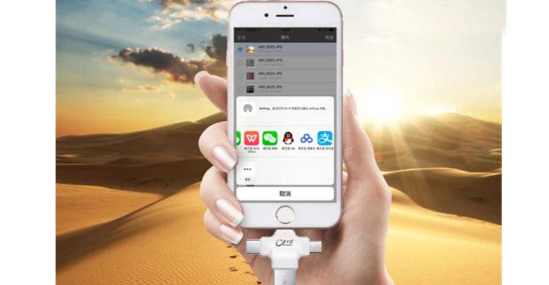 Đầu đọc thẻ TF iDragon R006 cho điện thoại, ipad, laptop, macbook