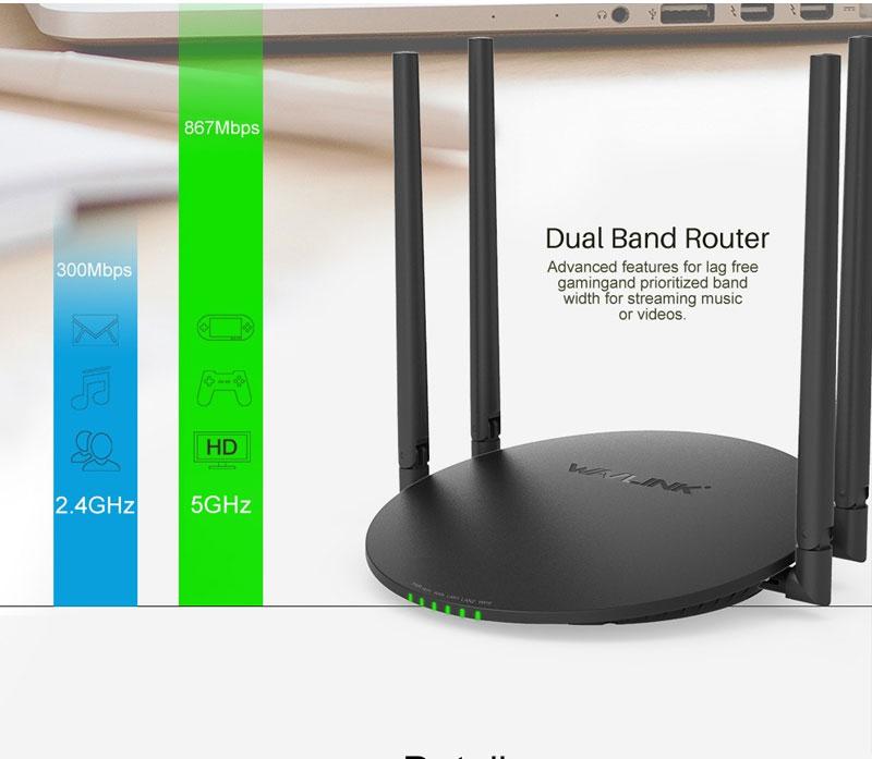 Bộ phát wifi 4 râu chuẩn AC1200 WAVLINK WL-WN530A3