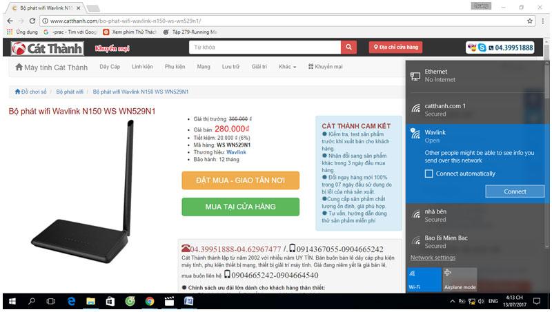 Bộ phát wifi Wavlink N150 WS WN529N1