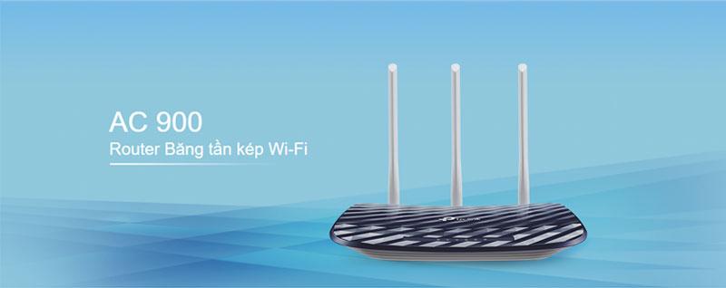Bộ phát wifi Tp-link băng tần kép AC900 - Archer C20