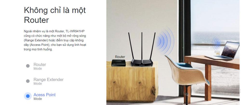 Bộ phát wifi Tp-link chuẩn N 450Mbps TL-WR941HP