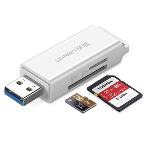Đầu đọc thẻ SD/TF chuẩn USB 3.0 Ugreen 40753