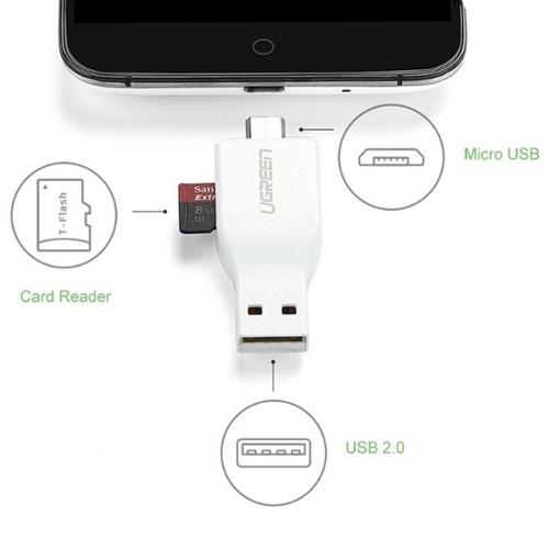 Đầu đọc thẻ TF / Micro-SD có OTG Ugreen UG-30358