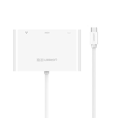 Cáp chuyển đổi USB Type-C sang HDMI, Hub USB và Lan Ugreen UG-30440