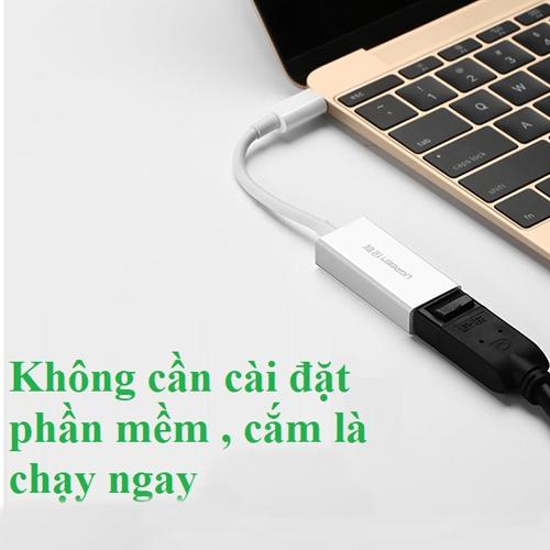 Cáp chuyển đổi USB Type-C sang Displayport Ugreen 40372