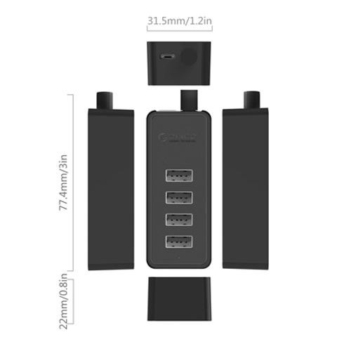 Bộ chia USB 2.0 Orico W5P-U2-30: Hub chia USB 4 cổng