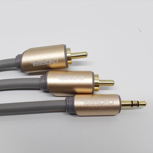Cáp âm thanh 3.5 ra 2 đầu hoa sen RCA 3m  Foxdigi Choseal AQ5205